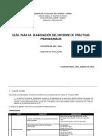 03 Guía Para El Informe de Practicas Profesionales