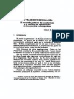 La Tradicion Nacionalista El Recorrido Historico de Una Ideologia y El Conflicto de Legitimidades en La Argentina Contemporanea