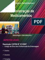 AULA - Administração de Medicamentos