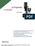 mechanical properties + hardness
