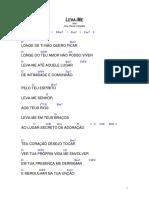 Leva-me - Diante Do Trono 4 - Cifra