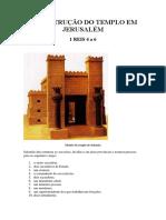 A Construção Do Templo Em Jerusalém