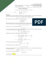 Corrección Segundo Parcial de Cálculo III, 19 de junio de 2017
