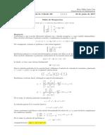 Corrección Segundo Parcial de Cálculo III, 20 de junio  de 2017