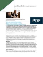 Ejemplos de Modificación de Conducta en Una Organización