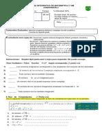 PRUEBA DE MATEMÁTICA  INTEGRATIVA  3° NM (19-06)