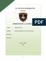 Monografia Del Derecho de La Familia