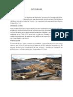 Minas Cerro Verde - Alto Chicama- Proyecto Quellaveco