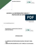 Acceso Informacion Publica y Proteccion de Datos-Carlos Garrido Falla