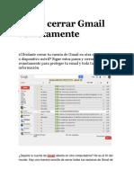 Cómo Cerrar Gmail Remotamente