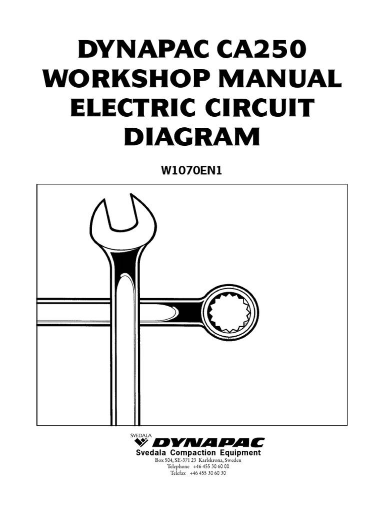 dynapac ca 250 workshop electrico pdf headlamp electrical wiring rh pt scribd com dynapac ca150 wiring diagram dynapac cc122 wiring diagram