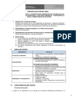 058. de Especialista de Monitoreo y Vigilancia Ambiental Profesional III