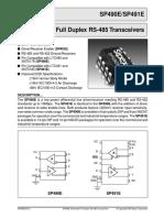 datasheet SP490ECN