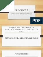 PRÁCTICA 2 determinación de ley de reacción equipo QRIA