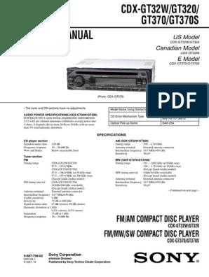 sony cdx gt32w wiring diagram sony cdx gt320 gt32w gt370 gt370s hertz frequency modulation  sony cdx gt320 gt32w gt370 gt370s