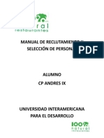 """MANUAL DE PROCEDIMIENTO DE RECLUTAMIENTO Y SELECCIÃ""""N DE PERSONAL.docx"""