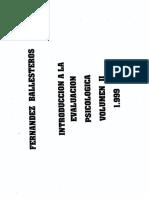 Fernandez-Ballesteros (1999) - Introducción a La Evaluación Psicológica Vol. II
