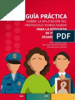 Guía Práctica Sobre La Aplicación Del Protocolo Homologado Para La Búsqueda de Personas Desaparecidas
