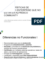 comparación Alfresco Community y Alfresco Enterprise