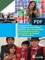 - Programa Construye T en Escuelas de Nivel Medio Superior, Para El Desarrollo de Proyectos de Vida y Prevención de Riesgos en Adolescentes