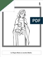 Colorear Virgen María