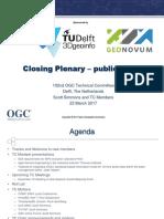 2017 Delft Closing Plenary Public Slides