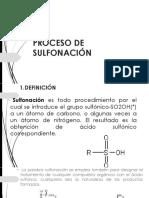 Proceso de Sulfonación