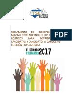 Reglamento de Inscripcion de Movimientos Elecciones Primarias 2017