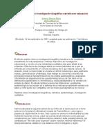 Epistemología de La Investigación Biográfico