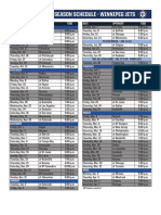 2017-18 Jets Regular Season Schedule