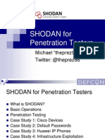 SHODAN for Penetration Testers (DEFCON 18)
