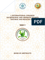 """1-500 pages for Book of Abstracts - I. INTERNATIONAL CONGRESS on MEDICINAL and AROMATIC PLANTS: """"NATURAL and HEALTHY LIFE"""""""