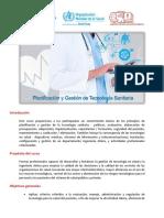 Planificacion y Gestion de Tecnologia Sanitaria Ops 2017 Cvtecnsan17