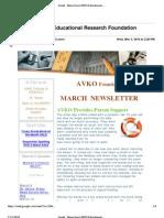 AVKO Newsletter 2010-03-03