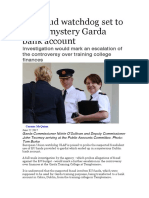 EU Fraud Watchdog Set to Probe Mystery Garda Bank Account
