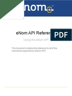 ENom API Reference | Domain Name | Parameter (Computer