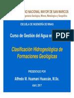 Clasificacion Hidrogeologica de Estructuras Geológicas
