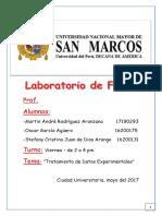 Informe Fisica Tratamiento de Datos Experimentales
