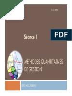 S1 Méthodes Quantitatives de Gestion