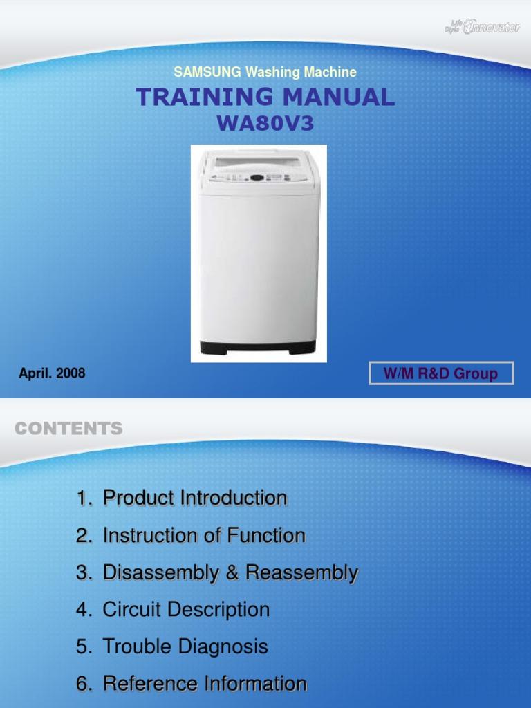 20080515112654437_Training_Manual_WA80V3 | Troubleshooting ...