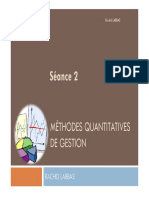 S2 Méthodes Quantitatives de Gestion