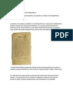 El Rol de Las Imprentas y Los Periódicos en Tiempos de La Independencia Argentina