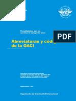 Diccionario OACI Doc 8400