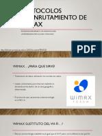Protocolos de Enrutamiento de WiMAX