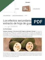 Los Efectos Secundarios Del Extracto de Hoja de Guanábana (1)