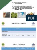 Informe de Avance Tecnico Financiero Proyecto de Investigacion