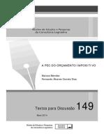 A PEC Do Orçamento Impositivo - MENDES, M