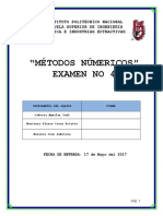 Cuarto Examen de Métodos.