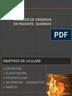Atencion de urgencia quemado 2017  ulare.ppt