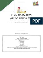 Plan Tentativo Medio Menor 2017